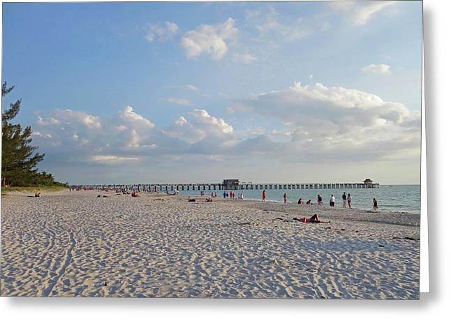 Beautiful Day On Naples Beach Naples Florida Greeting Card