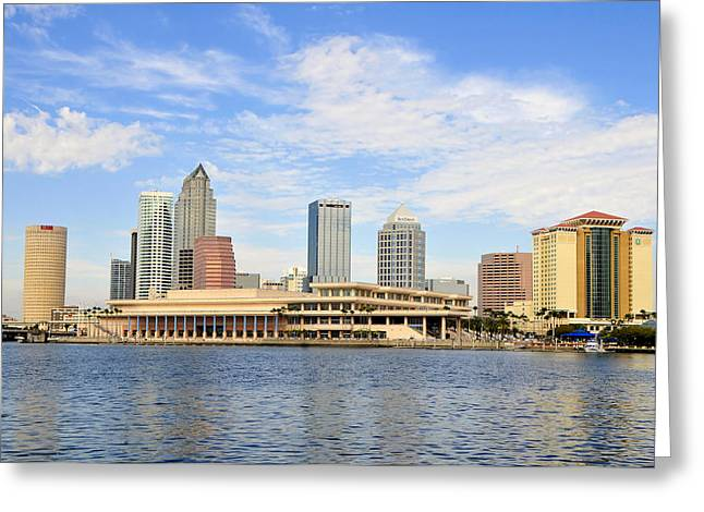 Convention Greeting Cards - Beautiful Day Tampa Bay Greeting Card by David Lee Thompson