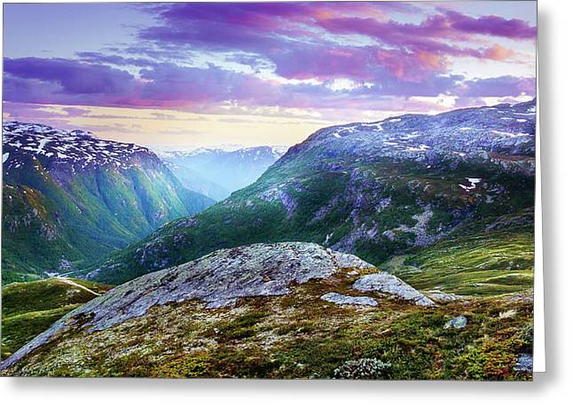 Light In A Valley Greeting Card by Dmytro Korol