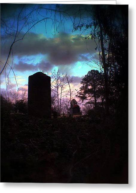 Beautiful Evening In The Graveyard Greeting Card