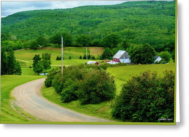 Beautiful Farm In Windsor Forks Greeting Card by Ken Morris