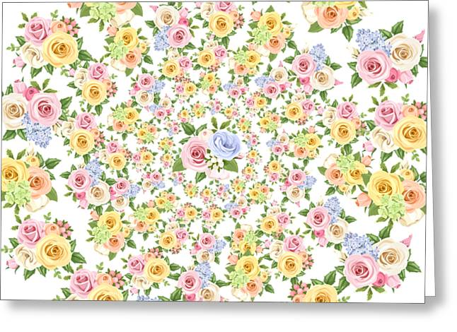 Beautiful Floral - Floral, Flowers, Flower, Rose  Greeting Card