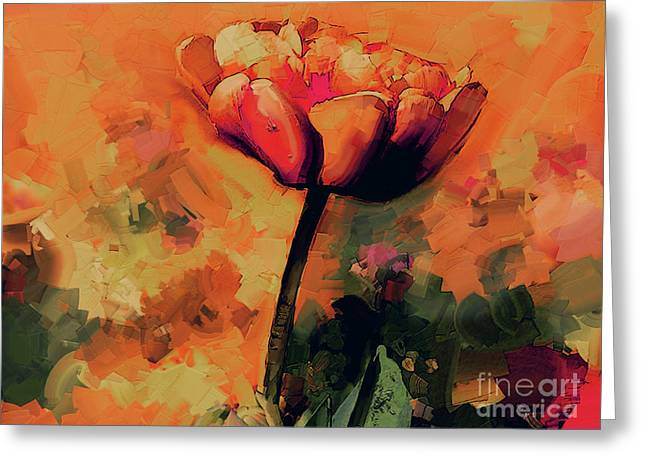 Beautiful Flower Art Painting  Greeting Card