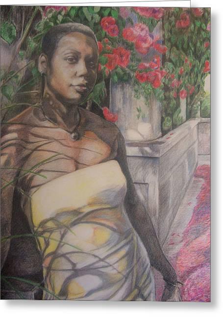 Beautiful Flower Greeting Card by Joyce McEwen Crawford