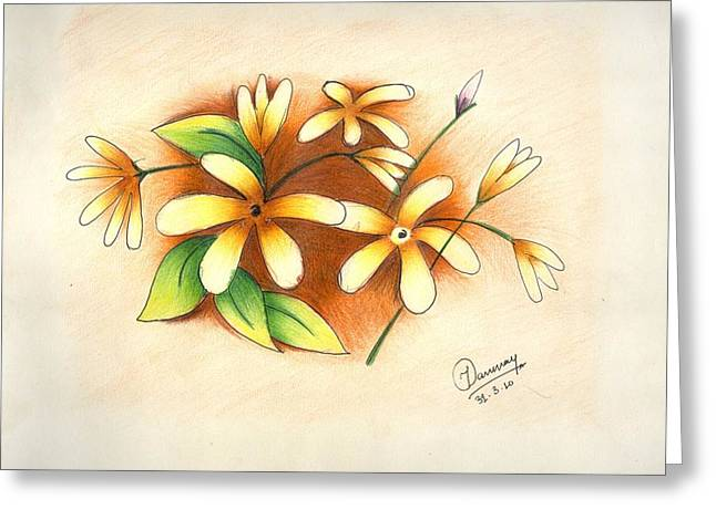 Beautiful Flowers Greeting Card by Tanmay Singh
