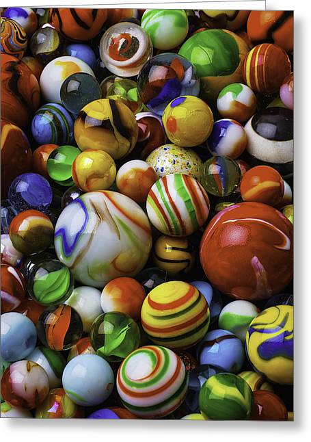 Beautiful Glass Marbles Greeting Card by Garry Gay