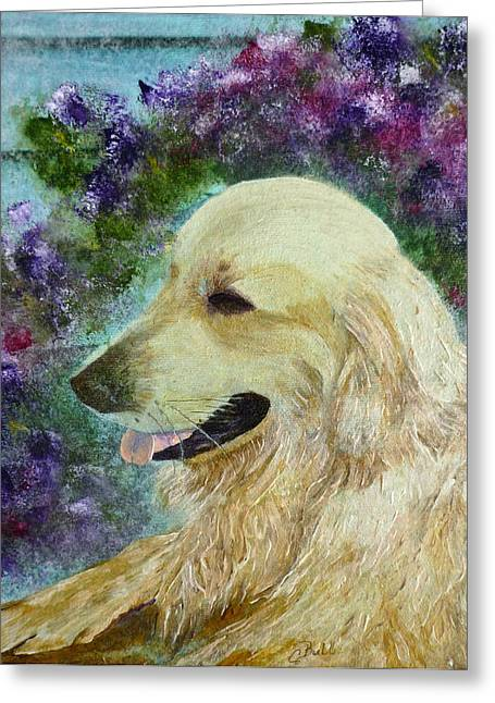 Greeting Card featuring the painting Beautiful Golden by Claire Bull