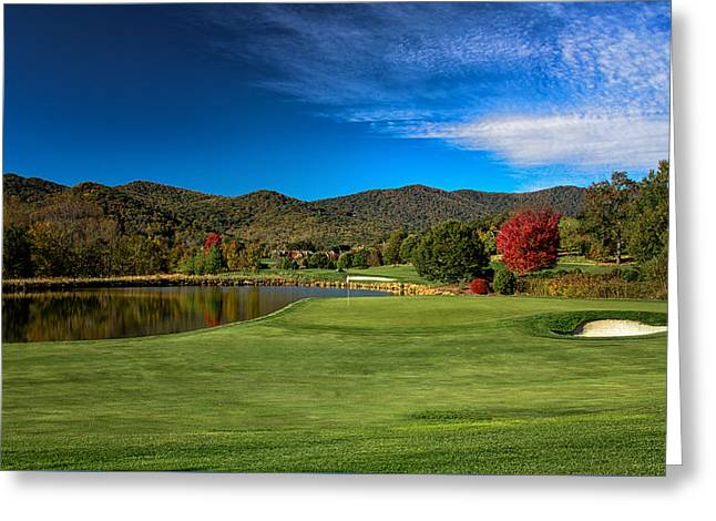 Colorful Golf Greeting Card