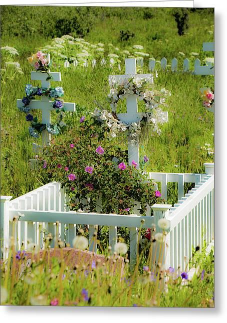 Beautiful Gravesite 2 Greeting Card by Edie Ann Mendenhall