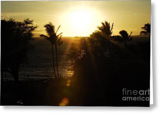 Beautiful Hawaiian Sunset 7 Greeting Card by Micah May