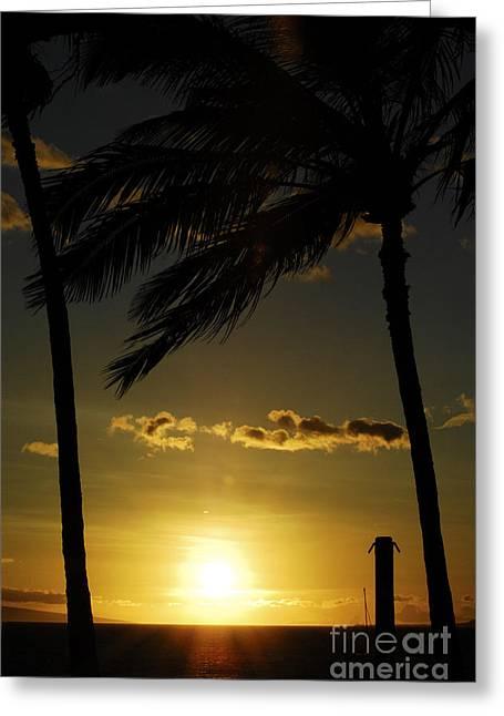 Beautiful Hawaiian Sunset 8 Greeting Card by Micah May