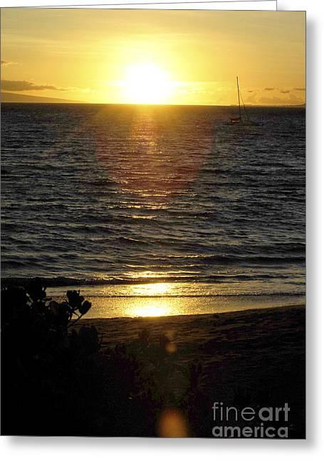 Beautiful Hawaiian Sunset 9 Greeting Card by Micah May
