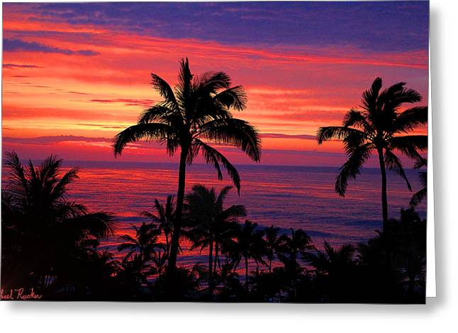 Beautiful Hawaiian Sunset Greeting Card