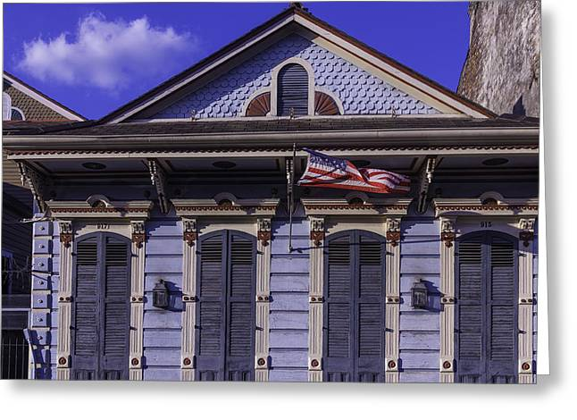 Beautiful House French Quarter Greeting Card