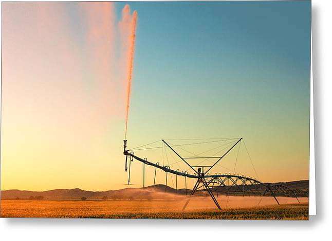 Beautiful Irrigation Greeting Card