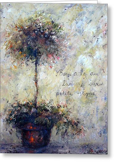 Greeting Card featuring the painting Beautiful Is The Light by Bonnie Goedecke