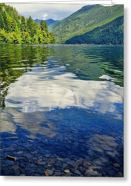 Beautiful Lake Crescent Washington Greeting Card by Dan Sproul