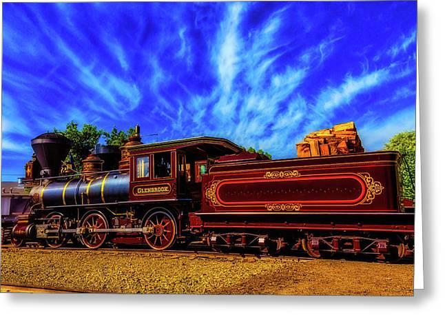 Beautiful Locomotive Glenbrook Greeting Card