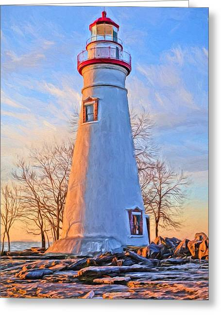 Beautiful Marblehead Lighthouse Greeting Card by Dan Sproul