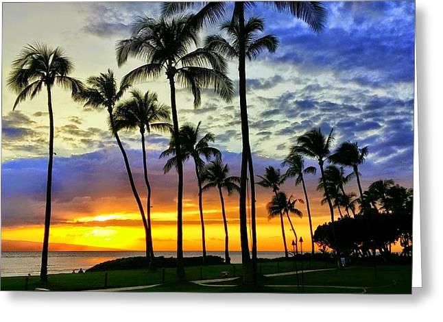 Beautiful Maui Hawaii Sunset Greeting Card