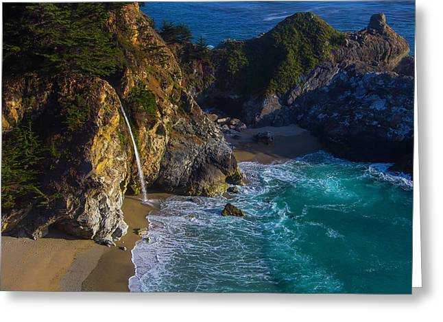 Beautiful Mcway Falls Greeting Card by Garry Gay