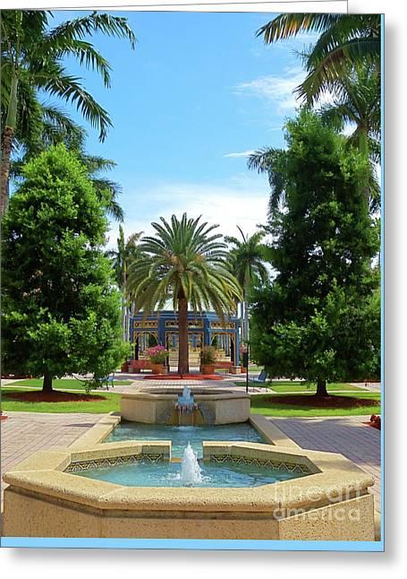 Beautiful Mizner Park In Boca Raton, Florida. #8 Greeting Card