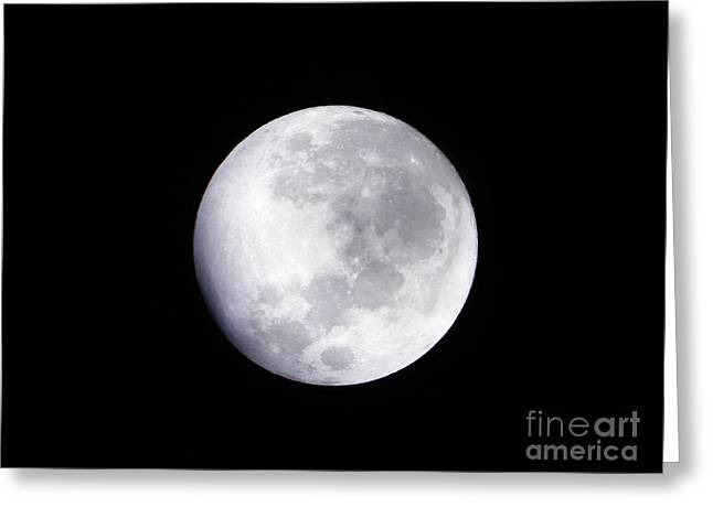 Beautiful Moon Greeting Card by Cindy Hudson
