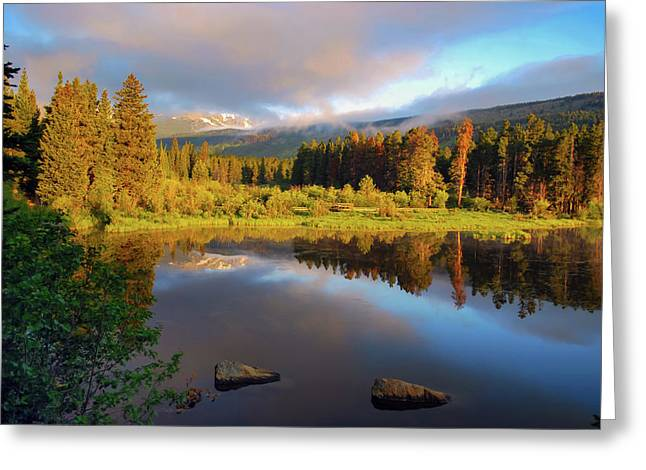 Beautiful Morning In Rocky Mountains - Colorado Greeting Card