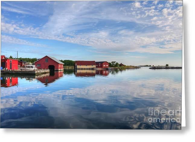 Beautiful Morning Greeting Card by Veikko Suikkanen
