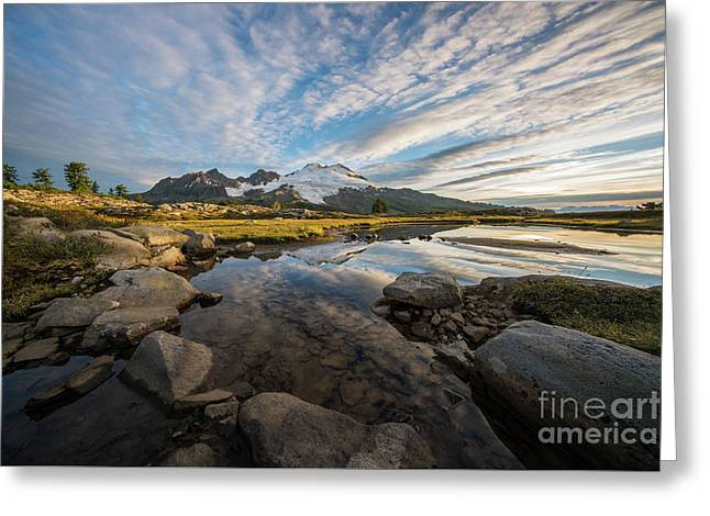 Beautiful Mount Baker Morning Greeting Card by Mike Reid