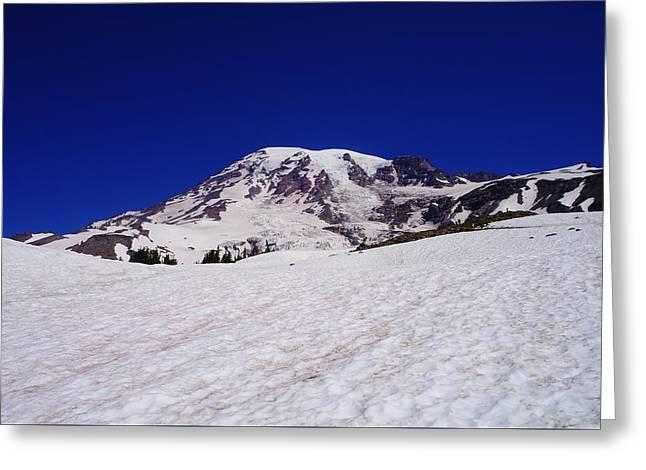 Beautiful Mount Rainier Greeting Card by Jeff Swan
