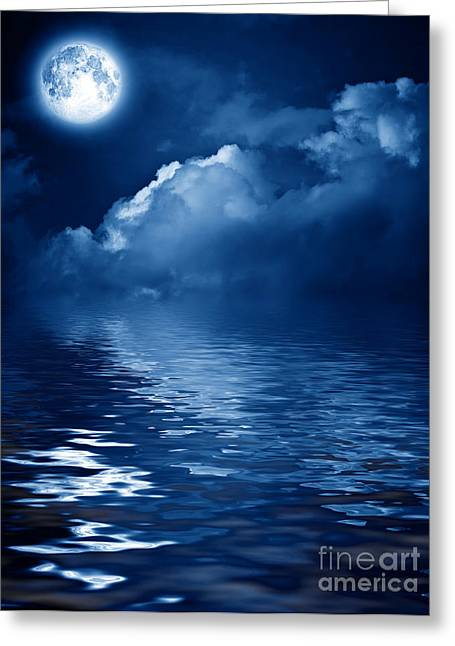 Beautiful Mysterious Moon Greeting Card by Boon Mee