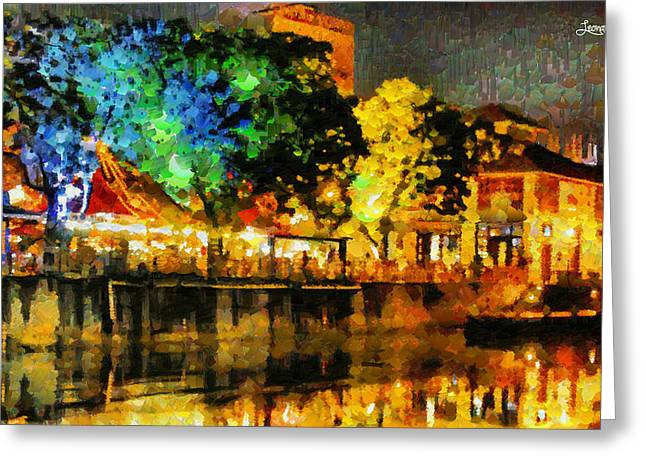 Beautiful Night - Da Greeting Card