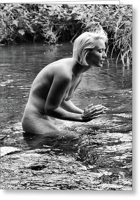 Beautiful Nudism By Mary Bassett Greeting Card