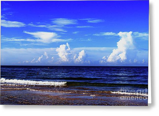 Greeting Card featuring the photograph Beautiful Ocean View by Gary Wonning
