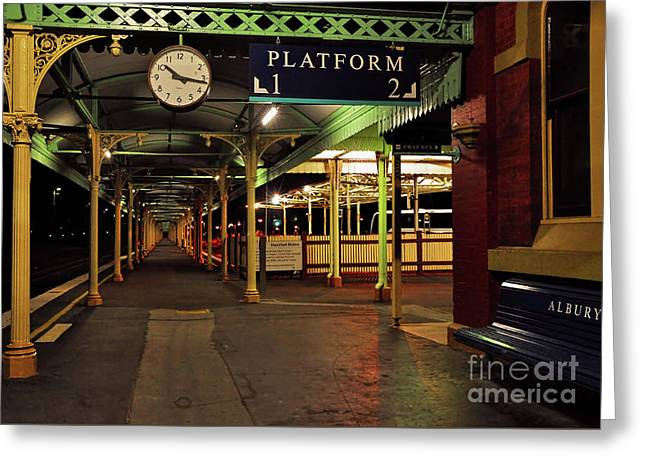 Greeting Card featuring the photograph Beautiful Old Albury Station By Kaye Menner by Kaye Menner