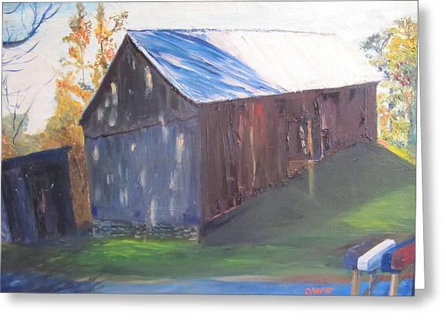 Beautiful Old Barn Greeting Card by Gloria Condon