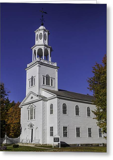 Beautiful Old First Church Greeting Card by Garry Gay