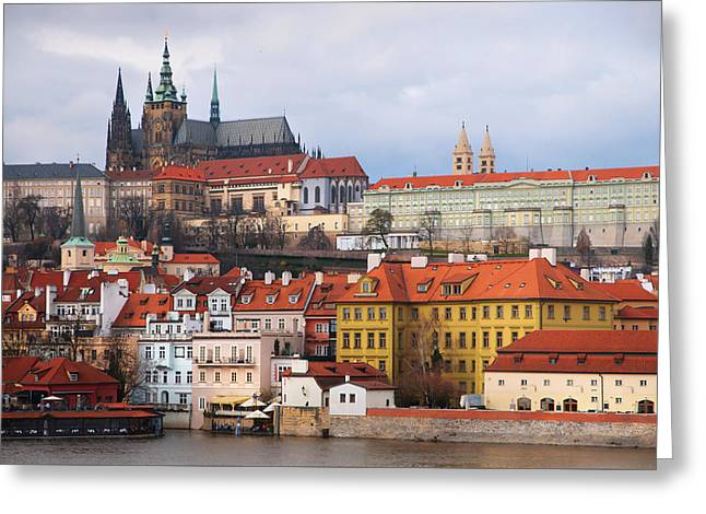 Beautiful Old Prague Greeting Card by Jenny Rainbow