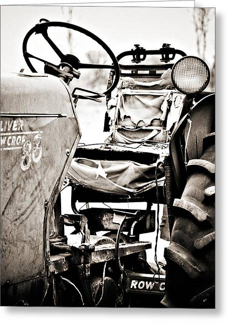Beautiful Oliver Row Crop Old Tractor Greeting Card