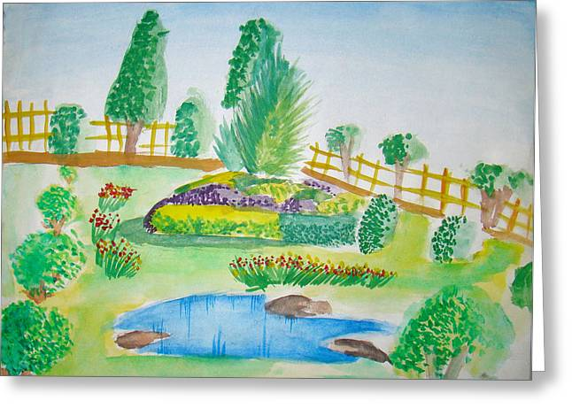 Beautiful Park Greeting Card by Tanmay Singh