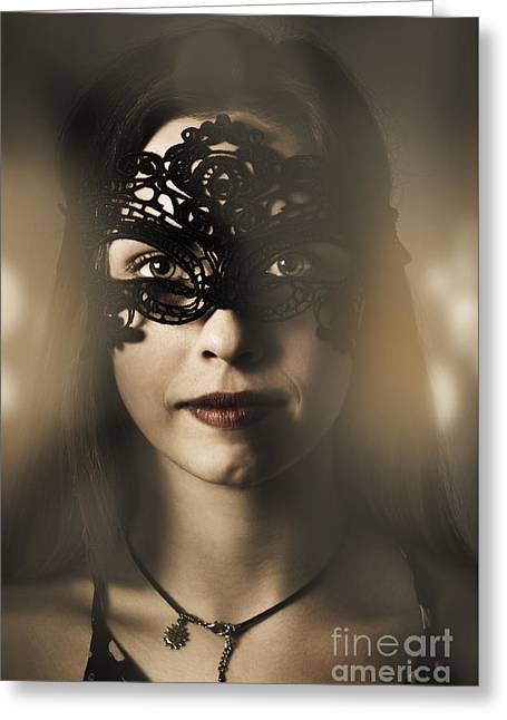 Beautiful Party Woman At Luxury Night Ball Greeting Card by Jorgo Photography - Wall Art Gallery