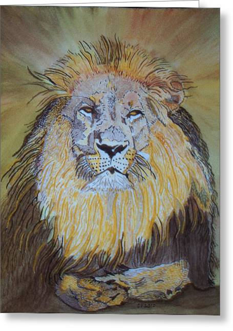 Beautiful Pose Of The King Greeting Card by Connie Valasco