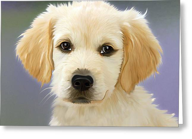 Beautiful Puppy Greeting Card