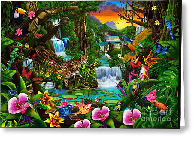 Beautiful Rainforest Greeting Card by Gerald Newton