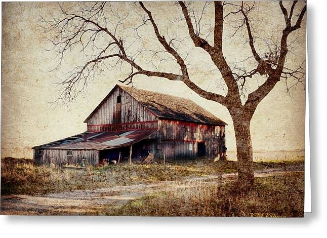 Beautiful Red Barn-near Ogden Greeting Card