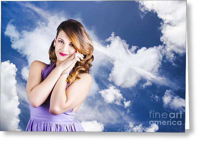 Beautiful Romantic Woman In Love Heart Romance Greeting Card by Jorgo Photography - Wall Art Gallery
