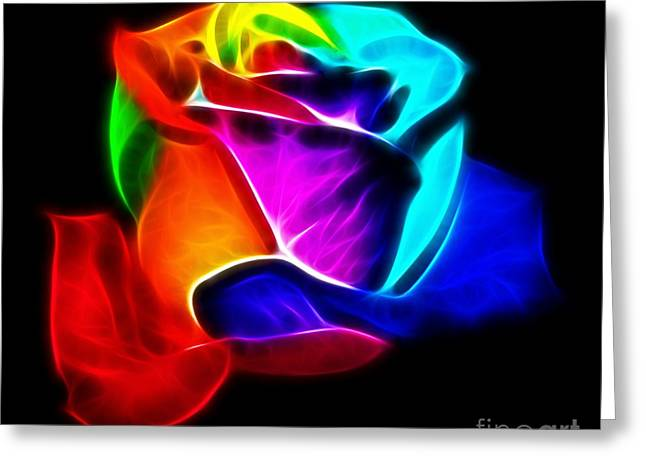 Beautiful Rose Of Colors Greeting Card by Pamela Johnson