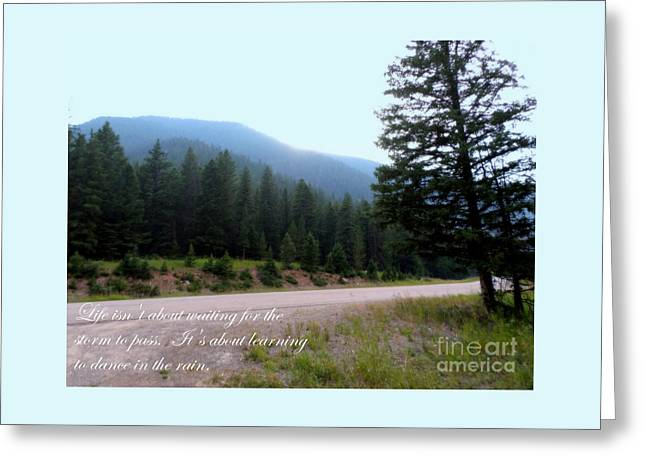 Beautiful Scenery With Life Quote Greeting Card