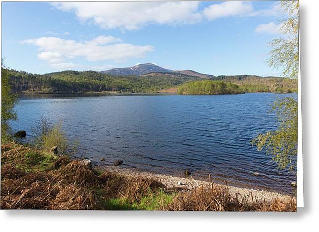 Beautiful Scottish Loch Garry Scotland Uk Lake West Of Invergarry On The A87 South Of Fort Augustus  Greeting Card